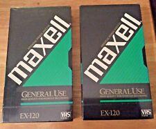 6 hr EP//SLP mode Maxell Videocassette GX-Silver HIGH QUALITY