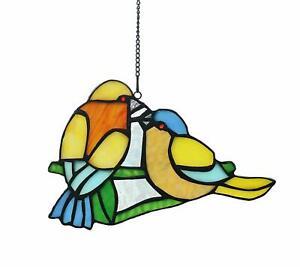 Love Birds Stained Glass Window Sun Catcher 787853145439 Ebay
