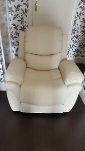 CREAM-LEATHER-RECLINER-ARMCHAIR-SOFA-HOME-LOUNGE-CHAIR-RECLINING-GAMING