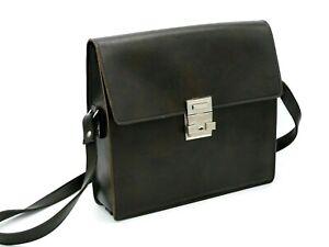 Fototasche-von-IKA-DE-LUXE-Echtes-Leder-Kameratasche-Umhaengetasche-dunkelbraun