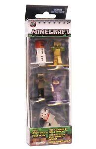Nano Metalfigs 5 Pack Minecraft Pack A Snow Golem Tamed Wolf NEW