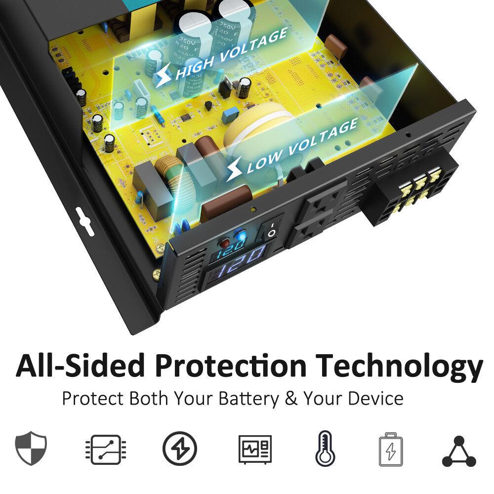 3000 Watt Car Power Inverter 12 24 Volt Dc To 120 220 Ac Pure 300watt 24v 220v Schematic Design Sine Wave Solar Ebay