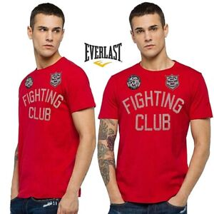 T-shirt-uomo-EVERLAST-tg-XL-maglietta-034-fighting-club-034-boxing-rosso-manica-corta