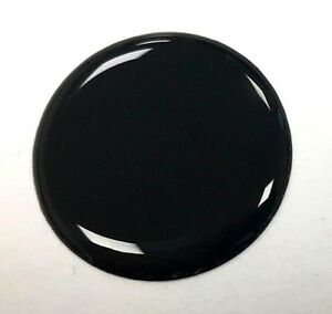 50mm-DIAMETER-BLACK-ROUND-STICKER-WITH-TOUGH-HARD-WEARING-HIGH-GLOSS-DOMED-GEL