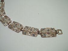"MADE IN GERMANY vintage bracelet,rhinestones,faux pearls,7""long,great cnd,"