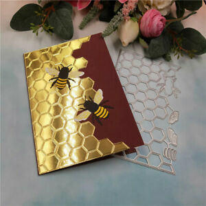 Stanzschablone-Bienenwabe-Biene-Weihnachten-Geburtstag-Hochzeit-Karte-Album-Deko