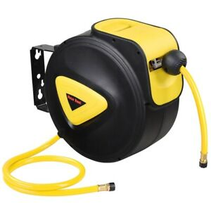 33ft-Retractable-Air-Hose-Reel-Wall-Mounted-Tool-Air-Compressor-Water-Hose-Reel