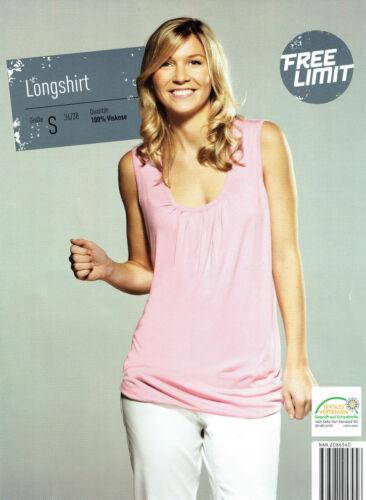 schönes ärmelloses Damen Longshirt Shirt Top aus Viskose ideal für den Sommer
