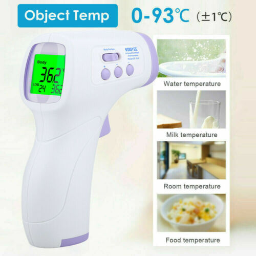 Infrared Digital Non-Contact Forehead Thermometer Temperature Gun Face Mask UK