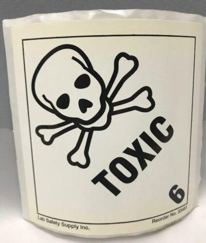 "4/""x4/"" Stickers 10 pc Black /& White Toxic Skull /& Crossbones"