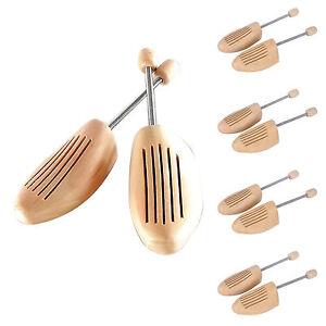 5-Paar-Schuhspanner-Schuhdehner-Schuhweiter-Spiralfeder-aus-Schima-Holz-Herrn
