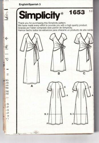 Simplicity Sewing Pattern Mk Wrap Dress 10-18 20-28 Amazing Fit B/&W COVER UNCUT
