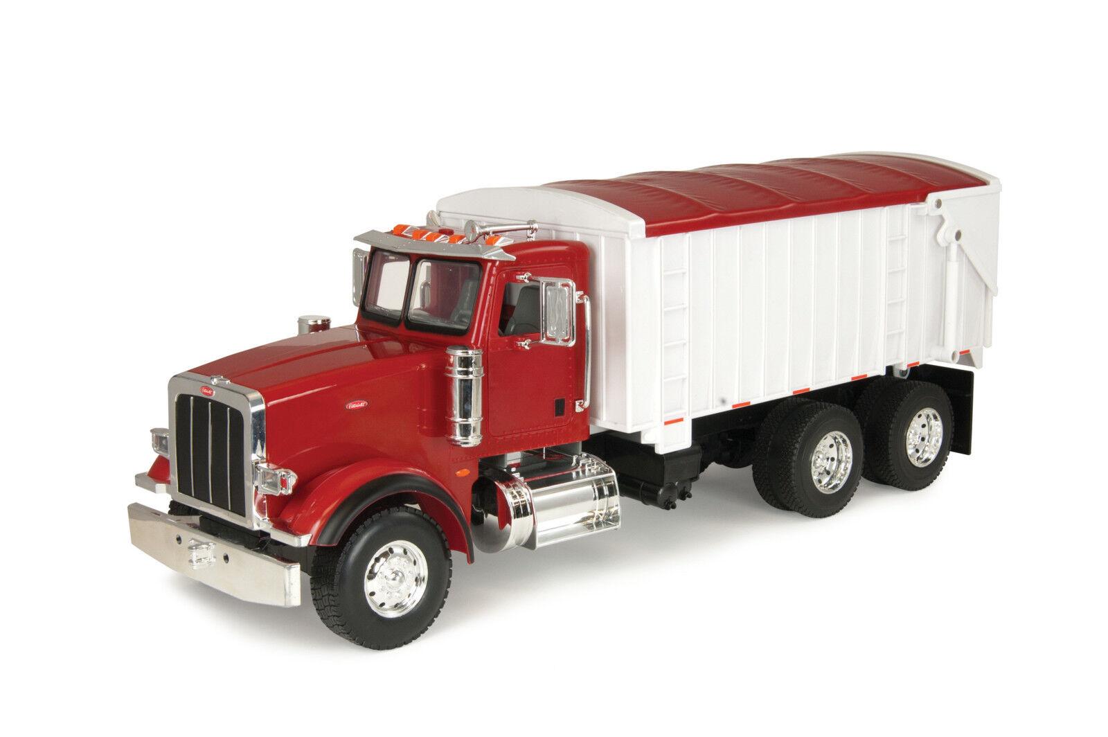 JOHN  DEERE 1 16 Peterbilt Big Farm Grain camion Collectible Toy Figure Rouge Blanc  pratique
