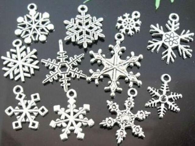 wholesale lots Tibetan Silver Snowflake Charms Lead-Free