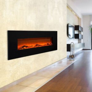 Stand-Wand-Steh-Heizung-Elektro-Fernbedienung-LED-Flammen-Effekt-Timer-1600-Watt