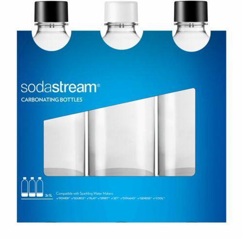 SodaStream 3 Bottiglie Universali per gasatore d/'acqua Capienza 1 Litro