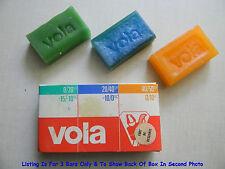 Vintage Vola Ski Wax, In Original Box, Green, Blue, Orange, New Old Stock