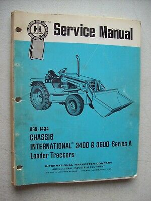 Chassis International Harvester 3400A Industrial Tractor Service ...
