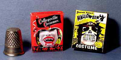Dollhouse Miniature 1:12 Halloween Costume Boxes Witch and Devil  Haunted House