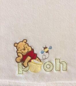 Baby Plush Blanket Ivory Winnie The Pooh Super Soft Newborn 30x40