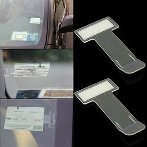 2x-set-Car-Vehicle-Parking-Ticket-Permit-Holder-Clip-Sticker-Windscreen-Window