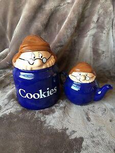 Wade-Tetley-Tea-Folk-Teapot-And-Cookie-Jar