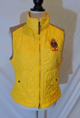 Ralph Lauren Women's Yellow Quilted Puffer Vest Su