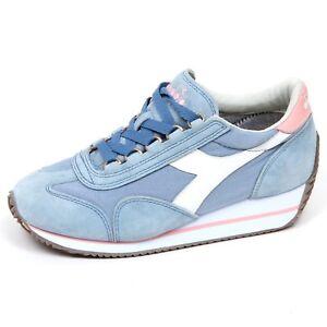 Image is loading E9888-sneaker-donna-light-blue-DIADORA-HERITAGE-EQUIPE- 6a792e03522