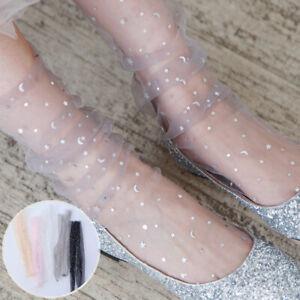 Women-Summer-Mesh-Fishnet-Star-Moon-Lace-Socks-Thin-Mid-Stockings-Casual-Socks