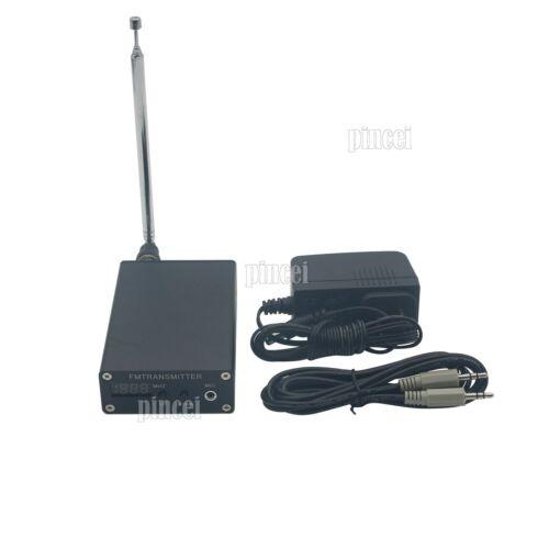 1mW PLL Stereo FM MP3 Transmitter Mini Radio Station 87-109MHz w// Power+Antenna