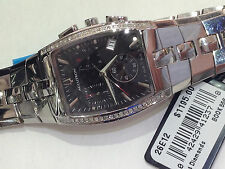 ACCUTRON MEN'S 26E12  LUCERNE 44 DIAMONDS  CHRONOGRAPH WATCH   NEW IN BOX $1,195