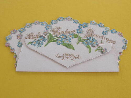 Ornate Cutout Victorian Christmas Greeting Card