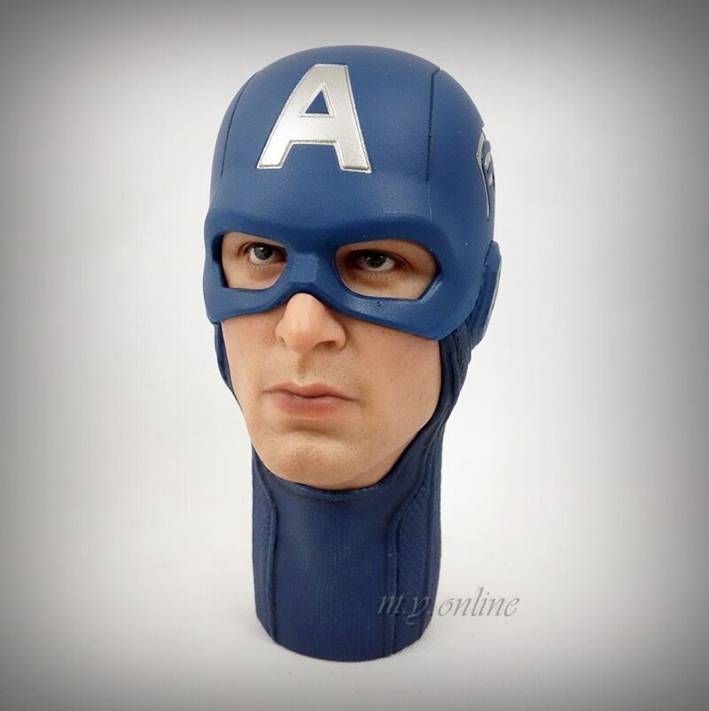 Hot Toys The Avengers CAPTAIN AMERICA Figure 1 6 HELMETED HEAD