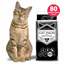 """80ct Cat Pads Activated Carbon for Breeze Tidy Cat Litter System 16.9x11"""""""