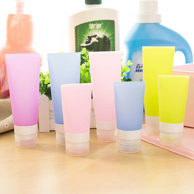 3 Size Silicone Travel Shower Packing Bottle Shampoo Bath Press Container Tool