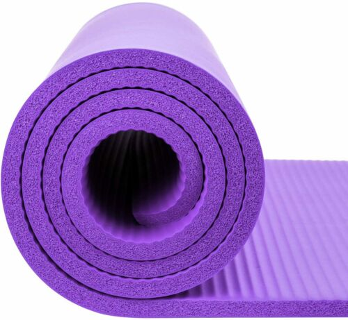/& Free Strap Eco Friendly Exercise Yoga Mat with NBR Material Slip Resistant