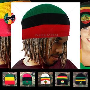 0c137ff52ba0e Rasta Beanie Tam Cap Hat Rastafari Selassie Africa Jamaica Reggae ...