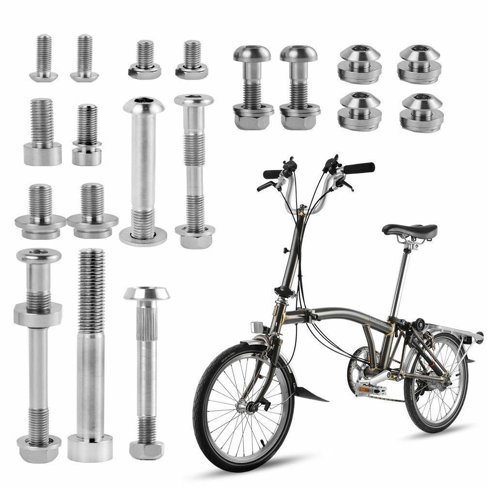 ROCKBROS Titanio Ti  Pernos Arandela un Set Kit Para Brompton bicicleta plegable  compras online de deportes