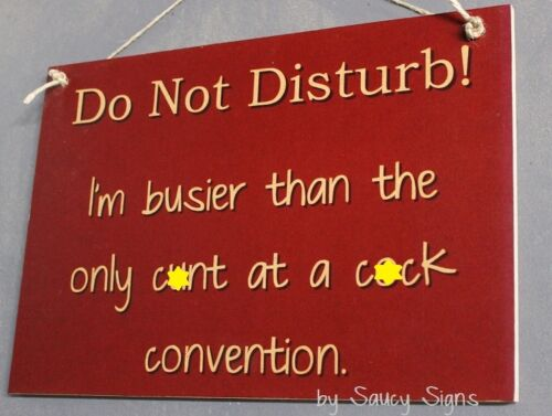 Very Rude Do Not Disturb C*nt C*ck Convention Sign ~  Bar Shed Man Cave Pub
