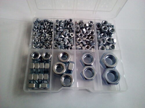 367 Pcs M10 M12 M8 M4 M14 Hexagon Full Nuts Set in plastic box M3 M5 M6