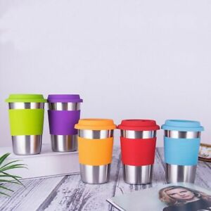 Stainless-Steel-Coffee-Mug-500ml-Tea-Cup-Non-slip-Sleeve-Travel-Silicone-Lid-Top
