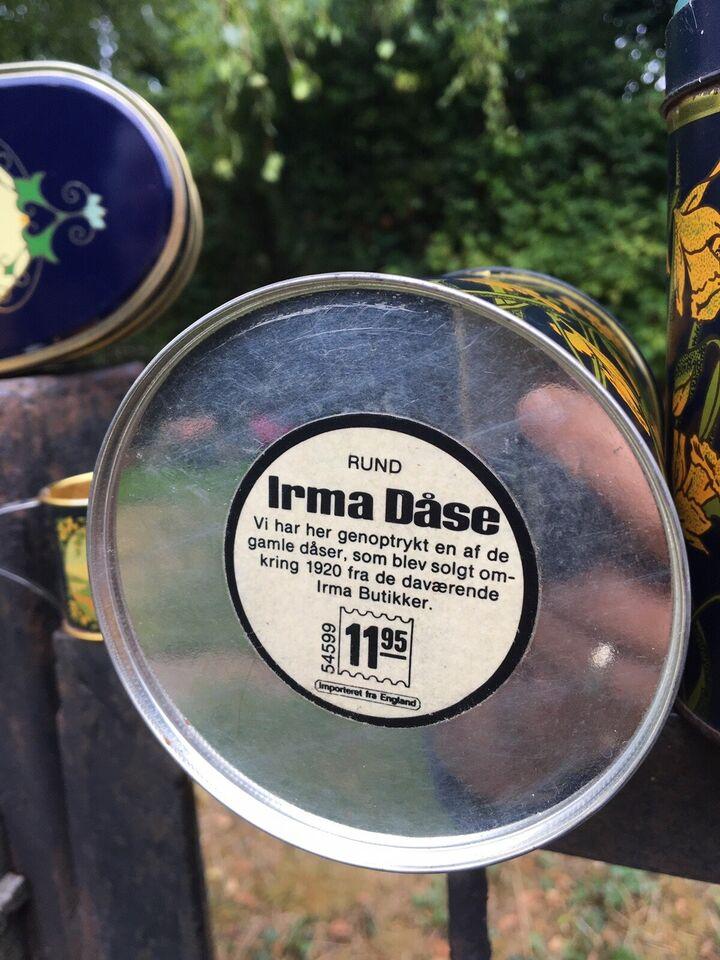 Dåser, Skønne gamle Irma dåser mm