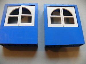 Lego-2-murs-avec-fenetres-set-freestyle-2-blue-panels-with-white-windows