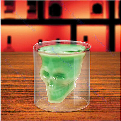 Party Creative 75ml Crystal Skull Head Vodka Wine Cup Mug Gift Clear Shot Glass