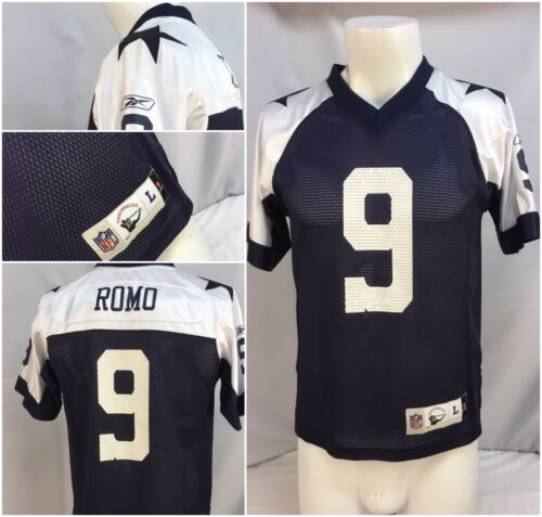 pretty nice dd736 82bb1 outlet Dallas Cowboys Tony Romo Jersey L Youth Throwback ...