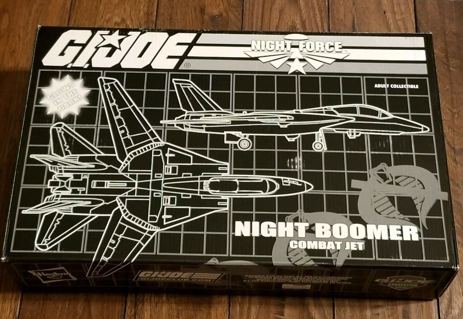 Gi Joe Club Exclusivo Noche Force 2013 Noche Boomer Combate Jet-1989 Reedición