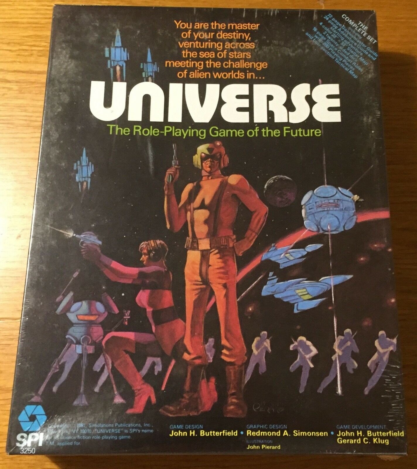 Universe Role-Playing (1st Edition) - SPI 1981 - Blisterato sealed Shrinkwrapped