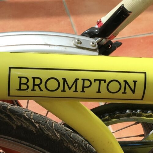 Sticker For Label Black Brompton replacement decal