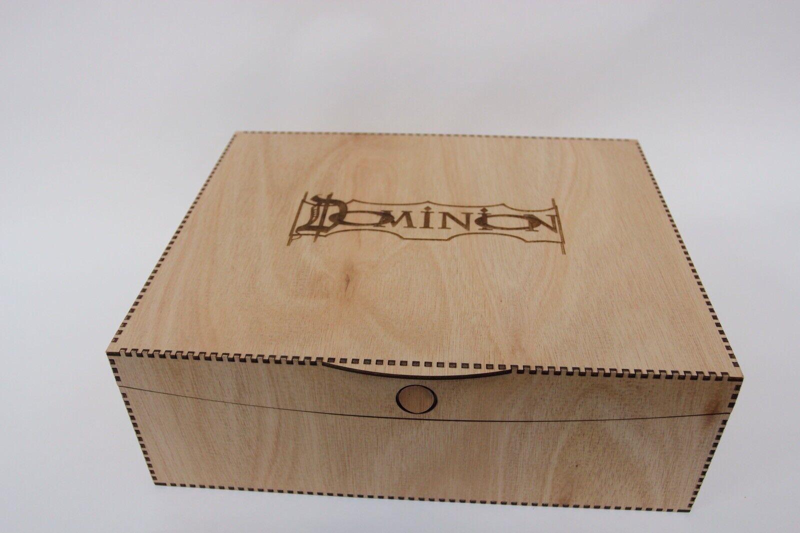 DOMINION Storage box - hardwood lasercut beautifully finished with engraving