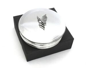 Virgo Traditional Pewter Trinket Zodiac Sign Jewellery Pill Box Ladies Gift 388